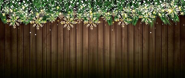Branche de sapin avec néons