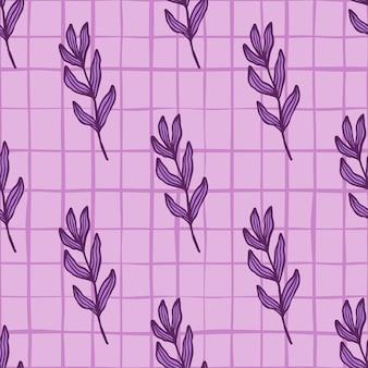 Branche violette abstraite avec motif sans couture de feuilles. toile de fond de feuillage. fond d'écran créatif de feuilles. pour la conception de tissus, l'impression textile, l'emballage, la couverture. illustration vectorielle.