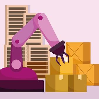 Bras robotique de production