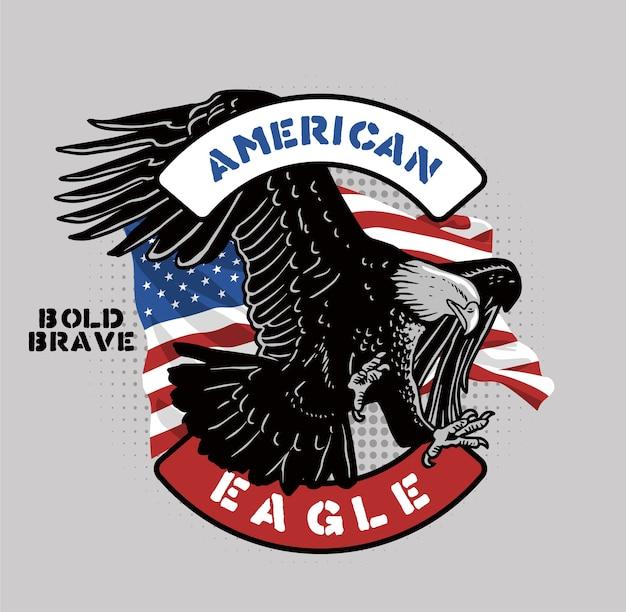 Brave aigle américain