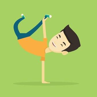 Breakdance de jeune homme.