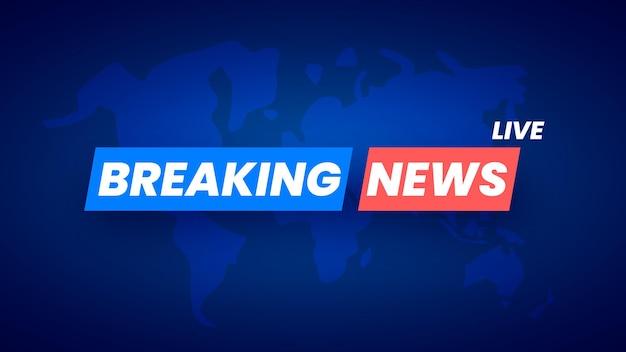 Breaking news background avec carte du monde vector illustration