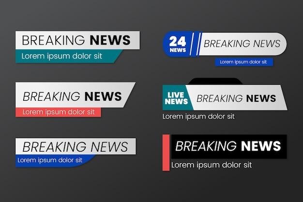 Breaking news bannières style de modèle