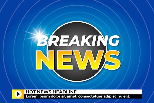 Breaking news concept