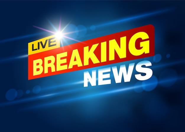 Breaking news live banner à la télé