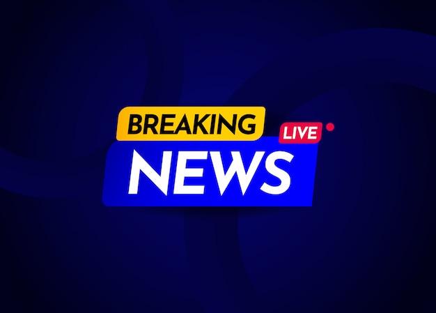 Breaking news live label vector illustration de conception de modèle
