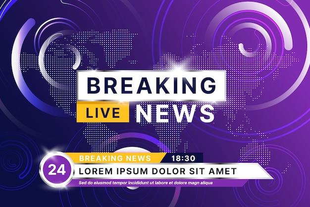 Breaking news style de streaming