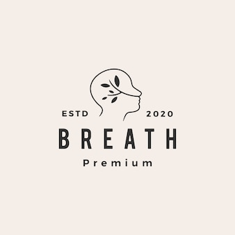 Breath hipster logo vintage icône illustration