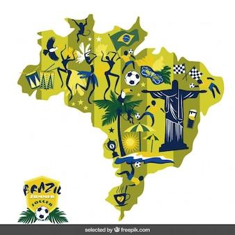 Brésil carte de football