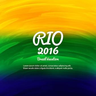 Brésil couleurs fond d'aquarelle