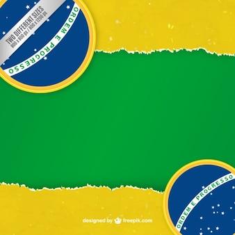 Brésil fond de drapeau