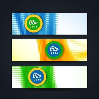 Brésil moderne thème de couleur bannières