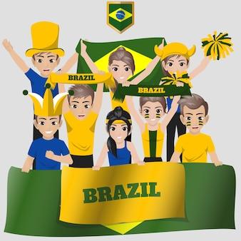 Brésil supporters de l'équipe nationale