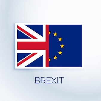 Brexit concept de drapeau