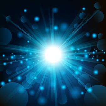 Brillance bleue avec fond de lumière parasite