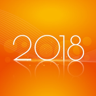Brillant 2018 conception de voeux de nouvel an