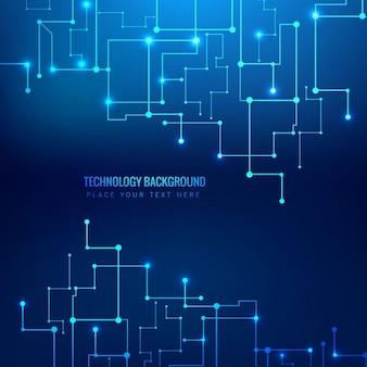 Brillant bleu technologie fond