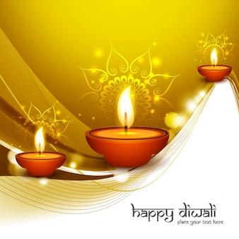 Brillant et doré diwali voeux