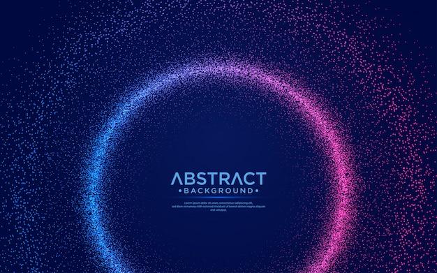 Brillant fond de flux de particules abstraites.