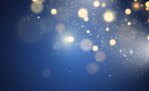 Brillant vecteur de poussière d'or brillant. ornements brillants scintillants pour le fond. illustration vectorielle.