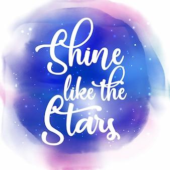 Brille comme l'arrière-plan de la citation des étoiles