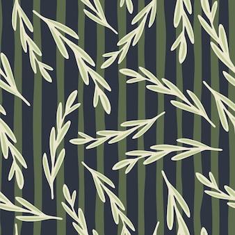 Des brindilles d'herbes blanches aléatoires façonnent un modèle sans couture.