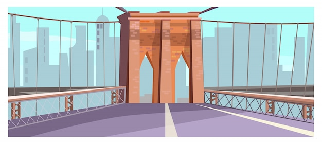 Brique, arc, de, ville, pont, illustration