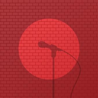 Brique rouge se lever dessin animé de comédie