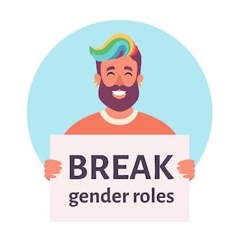 Briser les rôles de genre mouvement non binaire non binaire