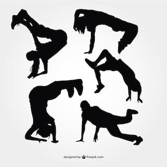 Briser silhouettes de danse