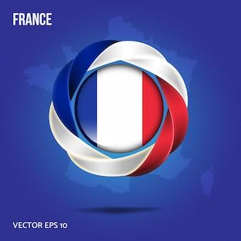 Broche drapeau france