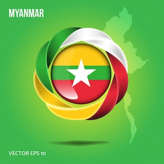 Broche drapeau myanmar