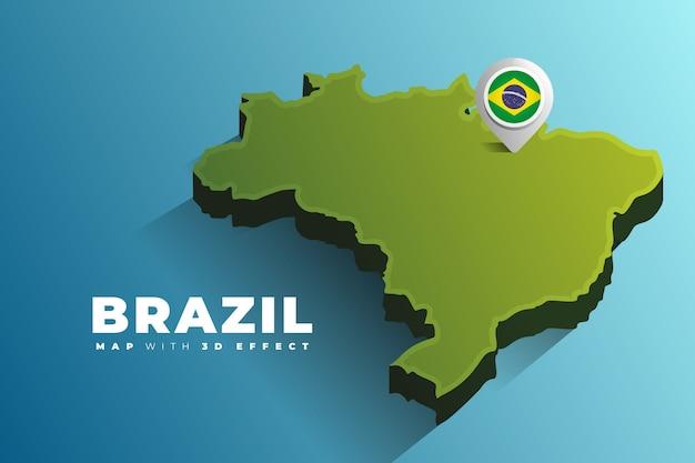 Broche d'emplacement de carte du brésil