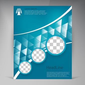 Brochure abstrait moderne pour les vecteurs modernes.