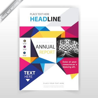 Brochure abstraite polygonale colorée