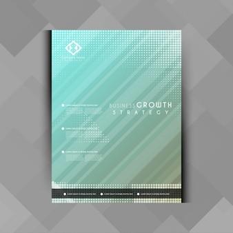 Brochure d'affaires élégante abstarct