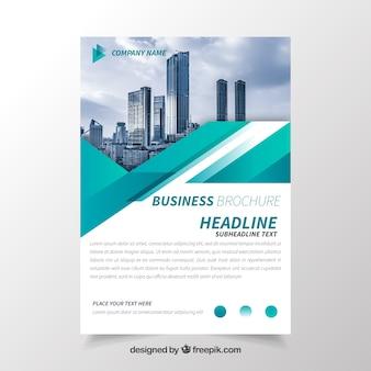 Brochure d'affaires avec géométrie
