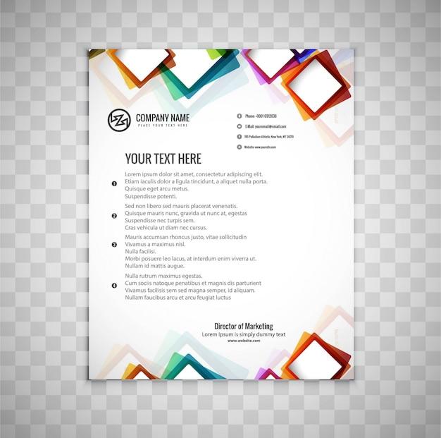Brochure d'affaires moderne et colorée