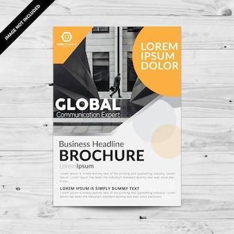 Brochure d'affaires moderne d'orange