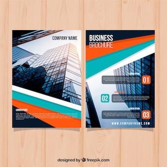Brochure d'affaires plat en taille a5