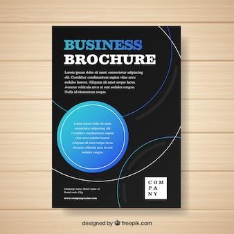 Brochure d'affaires avec la taille a5 dans le style plat