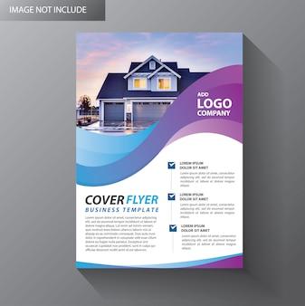 Brochure d'affiche de rapport annuel de mise en page de brochure avec une forme géométrique