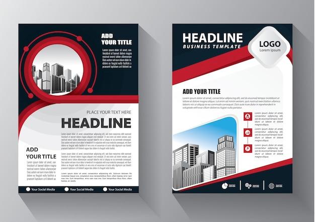 Brochure d'affiche de rapport annuel de mise en page de brochure avec forme géométrique