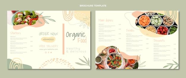 Brochure d'aliments biologiques design plat