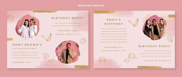 Brochure d'anniversaire dessinée à la main à l'aquarelle