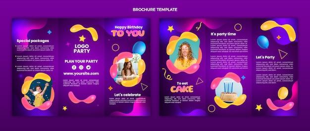 Brochure d'anniversaire fluide abstrait dégradé