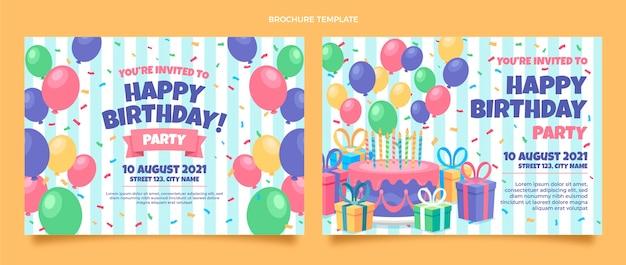 Brochure d'anniversaire plat minimal