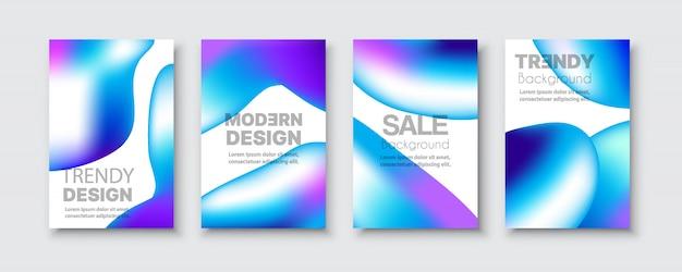 Brochure bannière set collection flyer de résumé