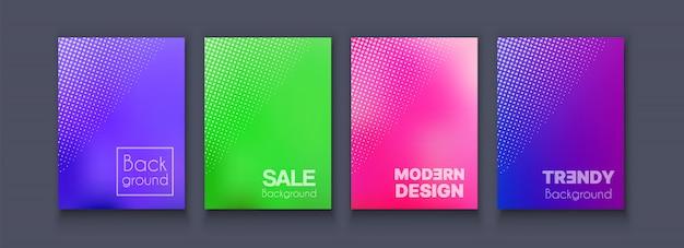 Brochure bannière set flyer de collection