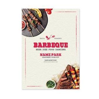 Brochure sur le barbecue des aliments frais grillés